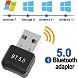 Maxesla Bluetooth 5.0 Adapter Bluetooth USB 5.0 Dongle Empfänger Bluetooth für Windows 10/8.1/8 / 7 / Vista/XP…