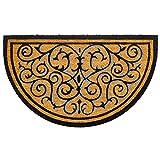 Kölle Kokos-Fußmatte Ornamente halbrund, 45x75 cm