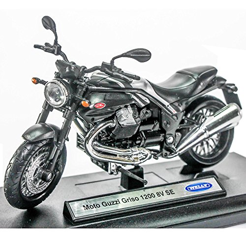 Preisvergleich Produktbild Welly 1:18 Die-cast Moto Guzzi Griso 1200 8V SE Motorcycle Black Color Model Collection