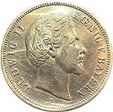 Münze 5 Mark 1874 D Ludwig II König von Bayern - Jäger Nr. 42 - Silbermünze *ORIGINAL*