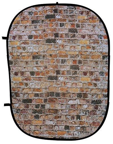 Fotostudio Falthintergrund Hintergrund Mauerwerk Backsteinziegel Brick aus Baumwolle 150x200cm