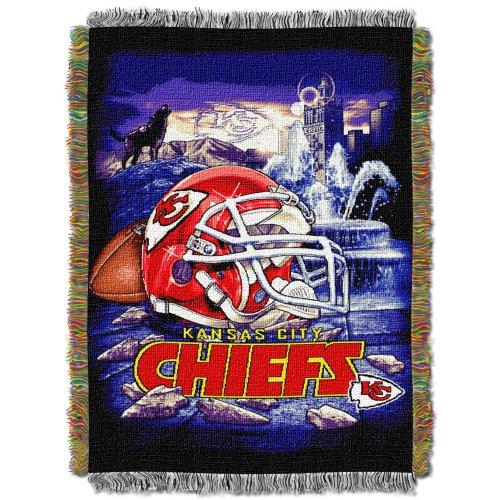 Northwest NFL Decke, Acryl, Gobelinmuster, Kansas City Chiefs, 48 X 60 -