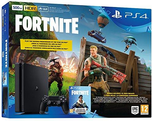 PlayStation 4 (PS4) - Consola Slim 500Gb + Fortnite + Voucher