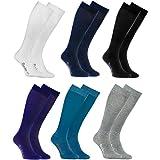 Rainbow Socks - Donna Uomo Colorate Calzini Lunghi Al Ginocchio di Cotone