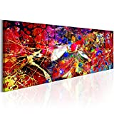 murando Bilder 135x45 cm - Vlies Leinwandbild - 1 Teilig - Kunstdruck - Modern - Wandbilder XXL - Wanddekoration - Design - Wand Bild - Abstrakt Farbflecken Bunt f-A-0482-b-b