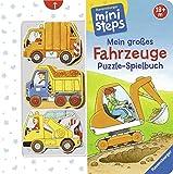 Mein großes Fahrzeuge Puzzle-Spielbuch: Ab 18 Monaten (ministeps Bücher) - Sabine Cuno