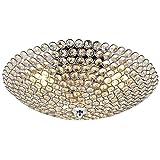 """Kristall Deckenleuchte/Kronleuchter """"Vapora"""" von [lux.pro] - Decken-Lampe in modernem Design mit Kunst-Kristallen für Wohnzimmer & Schlafzimmer, 3x E14 Sockel, 16 cm x Ø 40, 40 Watt, Chrom"""