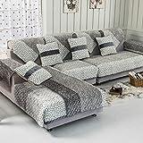 SSDLRSF Fleece Stoff Sofa Abdeckung SoftSlip resistent Sofa Schonbezug Sitz Couch Cover für Wohnzimmer Wohnkultur, Farbe 1,110x110 cm