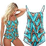 Sannysis - Mujer Traje de Baño, body Push Up Conjuntos, color flor (XL)