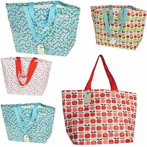 LS Jumbo Shopper Einkaufstasche recycled Strandtasche Schultertasche Obst