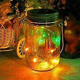 Mason Jar Licht Solar LED Glas Hängeleuchte Outdoor String Laterne Dekoration für Zuhause Party Garten Hochzeit