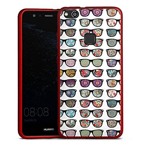 DeinDesign Huawei P10 lite Silikon Hülle Rot Case Schutzhülle Brille Glasses Hipster