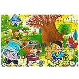 Hemore Jouet éducatif Cadeau pour Enfant Puzzle en Bois de 80 pièces Jouet éducatif Jouet en Bois Happy Puzzle 1
