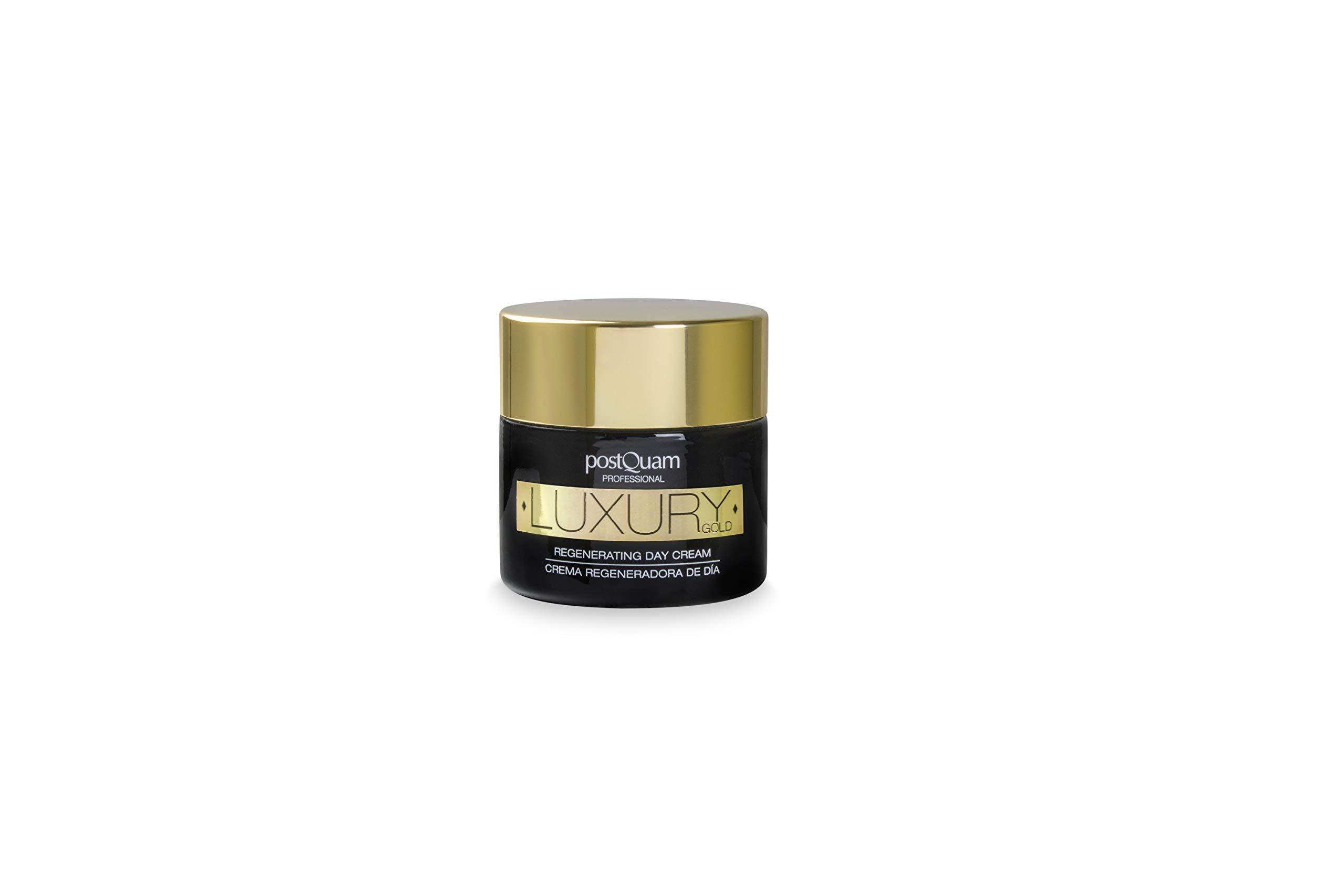 Postquam - Crema Día Luxury Gold | Crema Hidratante con Acido Hialuronico y Oro Coloidal - 50 ML