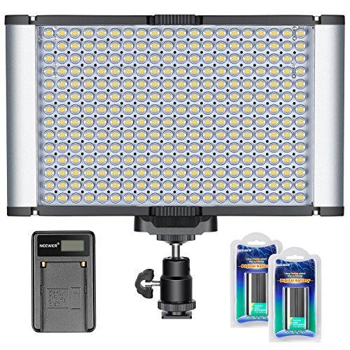 Neewer Kit di Pannello Luce LED Dimmerabile On-camera per Reflex Digitali Canon Nikon, 280 Lampadine LED, 5600K, CRI 96+, per Ritratti & Foto di Prodotti in Studio, Registrazioni Video Outdoor per YouTube