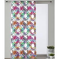 Cortina Modelo Aros, Color Multicolor, Medida 140x280cm