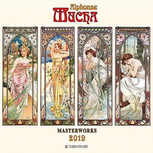 Alphonse Mucha - Masterworks 2019: Kalender 2019 (Tushita Fine Arts)
