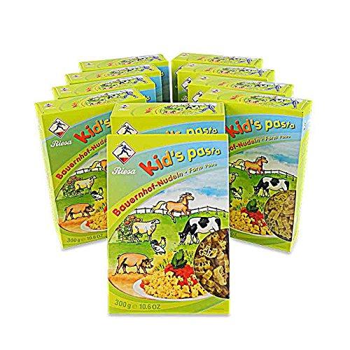 Kid's Pasta Bauernhof-Nudeln 10er Pack (10 x 300 g) Bauernhof Hahn