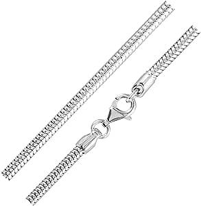 MATERIA, catenina a maglia di serpente, da donna, inargento Sterling 925 rodiato, spessore 3,2mm, 18,7g, con inclusoastuccio per gioielli n. K28