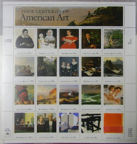 four-centuries-of-american-art-sheet-of-20-32-cent-stamps-scott-3236-by-usps