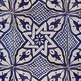 Handbemalte marokkanische Fliese orientalische Keramik Motiv Fliese Daya 10 x 10 cm