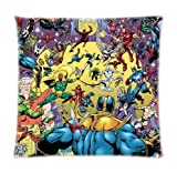 Lepilo Comic Book Hero Pillowcases Custom 18'x18' Two Sides Cool Comfortable Pillow Case