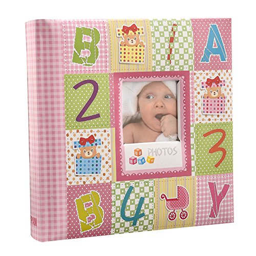 Arpan 10 x 15 cm Baby Photo Album 200 Hold Slip In case Memo Album - Alphabet by ARPAN