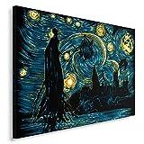 Feeby Fantasie vom DDJVIGO Leinwandbild - 50x70 cm - blau schwarz gelb
