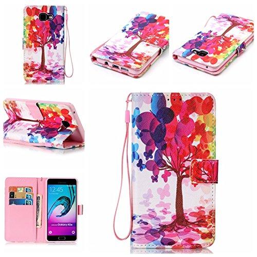 Qiaogle Telefon Case - PU Leder Wallet Schutzhülle Case für Apple iPhone 7 (4.7 Zoll) - YB25 / Baum YB25 / Baum