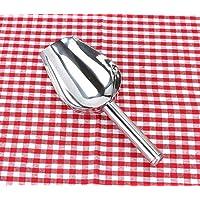 Huertuer - Pala de acero inoxidable para comida de caramelos (19 cm), color plateado