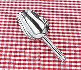 Cibo paletta, acciaio Candy Scoops Ice grano pala (argento)