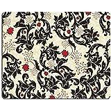 Luxlady Mousepads Vintage fondo con diseño de flores rojo y negro Vector ilustración imagen 38100887arte escritorio personalizado Laptop Gaming Mouse Pad