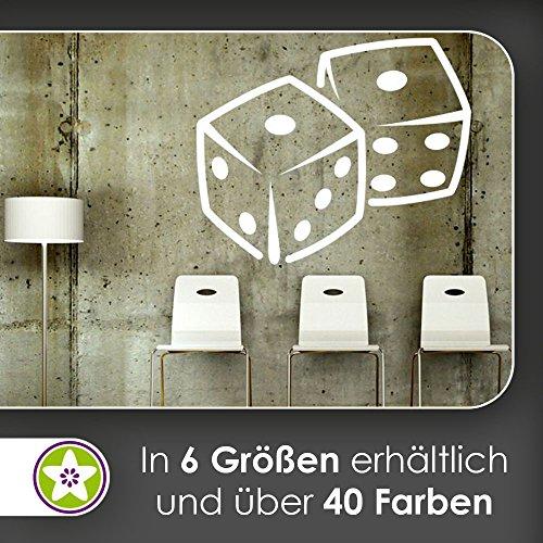KIWISTAR Würfel Spielwürfel Wandtattoo in 6 Größen - Wandaufkleber Wall Sticker