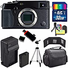 Fujifilm X-Pro1 Mirrorless Digital Camera (International Model) + Extra Battery + Charger + 32GB Card + Case + USB Card Reader + Tripod + Deluxe Accessory Kit + Memory Card Wallet Bundle