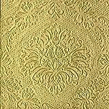 Servietten, gold, mit Prägung 20 Stück, 33x33cm