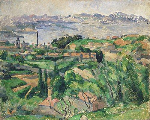 Marseille Schlafzimmer (Das Museum Outlet–View Of The Bay Of Marseille mit The Village Of saint-henri, 1883, gespannte Leinwand Galerie verpackt. 40,6x 50,8cm)