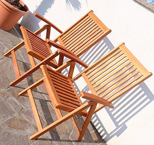 Edle Gartengarnitur Terassengarnitur Gartenset Gartenmöbel Holz Eukalyptus mit Ausziehtisch 140-180x100cm + 8 Hochlehner 7-fach verstellbar 'LIMA180-6EU-SET' von AS-S - 3