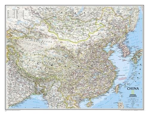 China Classic, Tubed: Wall Maps Countries & Regions: NG.P620057 (National Geographic Reference Map)