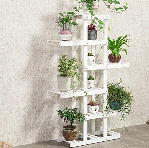 HJHY® Porte-fleurs, bois massif intérieur étagère balcon Séchoir à plusieurs couches Étagère de style Porte-pot à fleurs Résistant à la corrosion, durable ( Couleur : #3 , taille : 62*25*125cm )