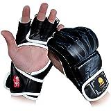 GranVela® ZOOBOO Guantoni da boxe, guanti di combattimento Sports MMA Muay Thai Training sacco da boxe metà Guanti Sparring B