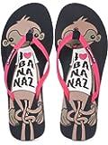 SOLETHREADS Monkey, Comfortable, Printed Flip Flops for Women