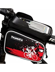Outdoor Mountain Bicycle Cycling Frame Front Top PVC Tube Bag Bike Pouch