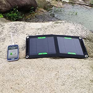 <Cyber Monday> ALLPOWERS™ 7W Solar Foldable Panel Charger External Charger Pack USB Portable Backup Power Bank for iPhone 6 5s 5c 5 4s 4, Samsung Galaxy S5 S4 S3, Blackberry, OPPO, LG, PDA, GPS Units, Digital Camera, Video Camera, PSP Video Games, Bluetooth Headset, IPOD Digital Products & All Other USB Compatible Devices