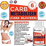 #1 CARB BLOCKER and CARB METABOLISM Tablets for Weight Loss for Women & Men.★ Contains a potent blend of WHITE KIDNEY BEAN, CHITOSAN, BLACK SOY BEAN, VITAMIN-C.★ Fast Carb Blocker for Weight Loss.★ New High strength formula for maximum and quick impact.★ BLOCKS FAT FROM BUILDING up.★ PREMIUM Quality CARB killer and 100% natural.★ HACCP Certified. Made in The UK. immagine