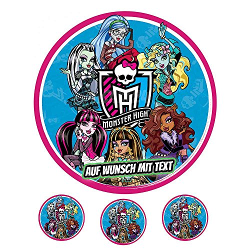 Tortenaufleger Geburtstag Tortenbild Zuckerbild Oblate Motiv: Monster High 05 (Zuckerpapier) (Monster High Kuchen Dekoration)