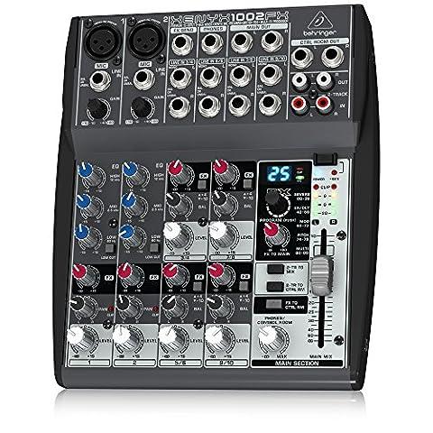 Behringer XENYX 1002FX Table de mixage 10 canaux Stéréo FX Processeur 24-bit