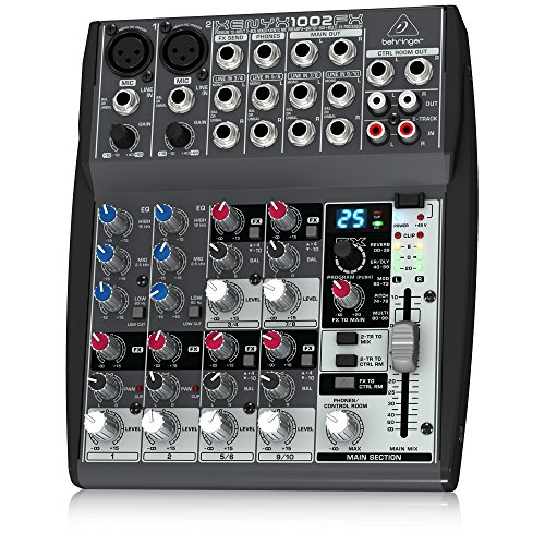 Behringer XENYX 1002FX 10-Channel Mixer  available at amazon for Rs.12849