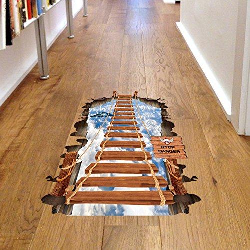 YUCH Le Rez-De-Chaussée Stickers Décoratifs Papier Collée Collée sur L'Escalier du Ciel