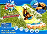 Kinder Wasserrutsche für Rasen mit Anschlussstutzen und Bodenankern