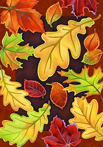 DIYCCY grünen Blätter 68,6x 94cm Dekorative Fall Herbst Tree Leaf Collage House Flagge (State-tree Ohio)